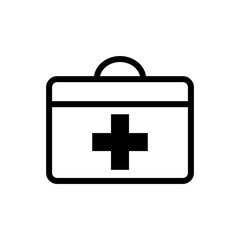 first aid box icon logo collection