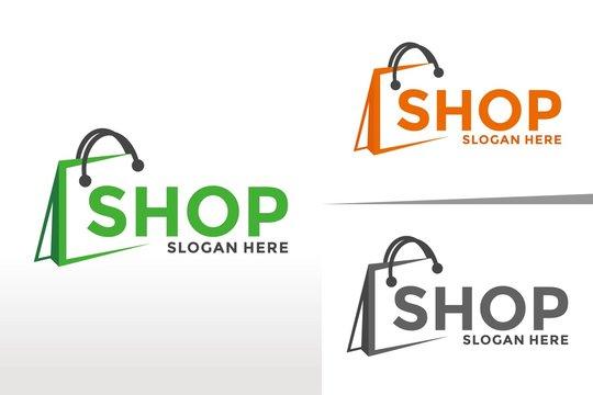Shopping logo,Online Shop design vector