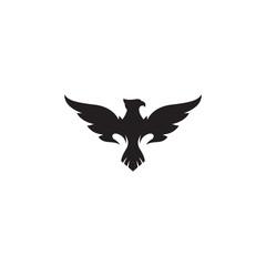 phoenix vector silhouette logo template