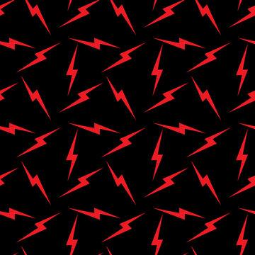 Thunder striking signs seamless pattern vector