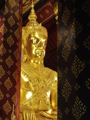 Gilded Buddha image in Thailand