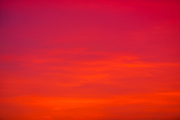 Foto auf Acrylglas Rot The background view of the sky is close, with various colors changing according to the weather (orange, red, yellow, pink, blue) is a natural beauty.