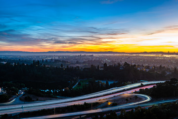 Autumn Sunset over the San Francisco Bay Area