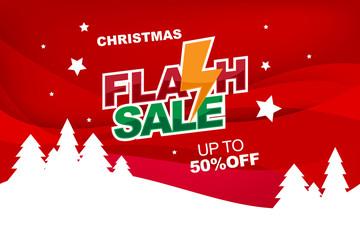 Christmas flash sale banner template