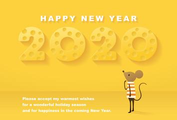 年賀状 子 2020 New Year Card