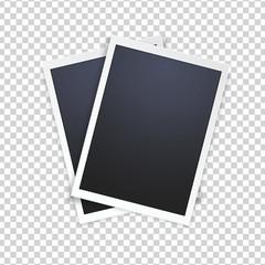 Blank photo frame, isolated on transparent background.
