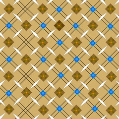 Geometric seamless pattern with brownies orange color.