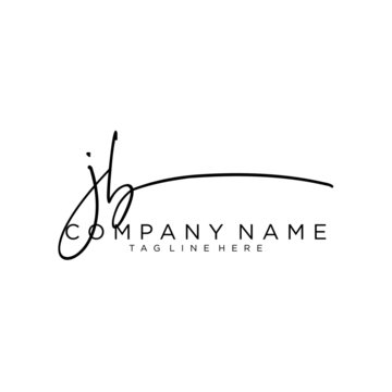 Initial letter JB Signature handwriting Logo Vector