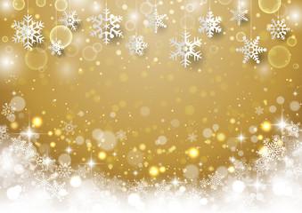 クリスマス用 雪結晶背景5