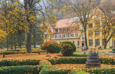 Autumn in Spa Park in Duszniki Zdroj, Poland