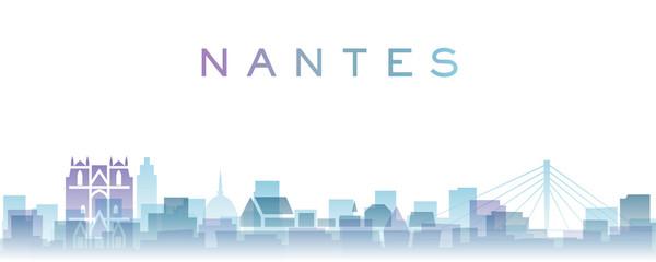 Nantes Transparent Layers Gradient Landmarks Skyline Fotomurales