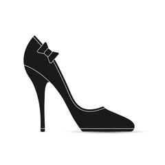 Women's shoes with a bow. Simple design.