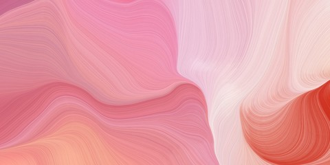 Poster Fractal waves curvy background design with light coral, pastel magenta and pastel pink color