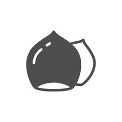 Hazelnut glyph icon or nuts symbol
