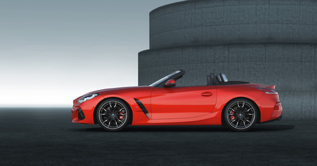 BMW Z4 First Edition sideview open roof