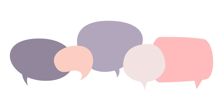 Flat design social network communication vector concept illustration speech bubbles. Template for web design, banner, mobile app, landing page and infographics.
