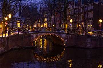 Fotorolgordijn Amsterdam An Amsterdam Urban Landscape