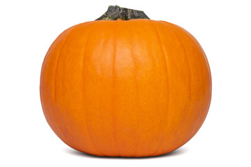 One whole orange pumpkin for Halloween