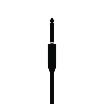 Audio jack symbol. audio plug icon. recording equipment icon.