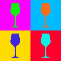 Weinglas und Popart