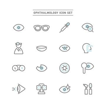 眼科アイコンセット