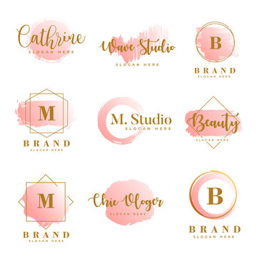 Feminine logo collections template vector