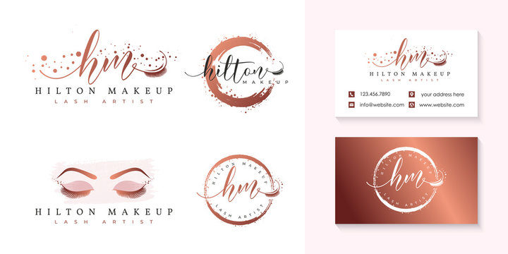 eyelashes logo collection template vector