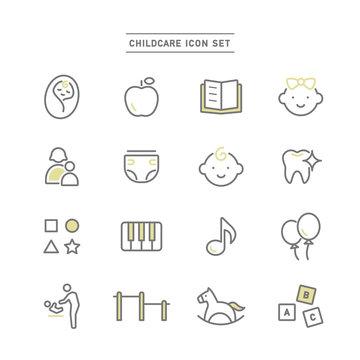 CHILDCARE ICON SET