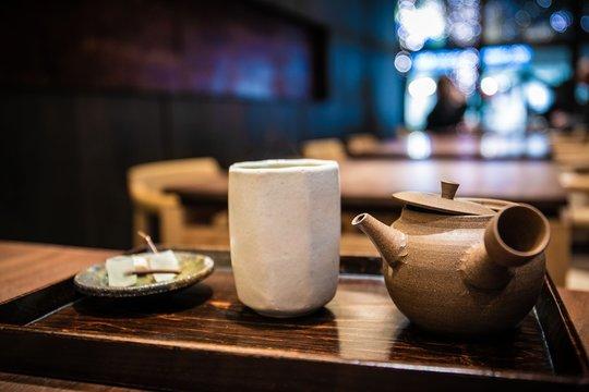 玉露、緑茶とお茶請け