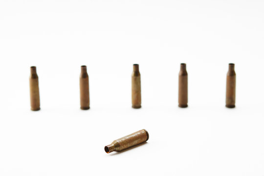 old shell casings from the AK-47