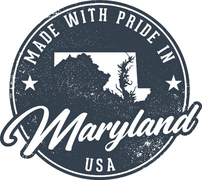 Made in Maryland State Packaging Label