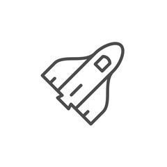 Space shuttle line outline icon