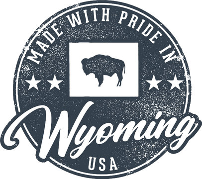Made in Wyoming State Packaging Label
