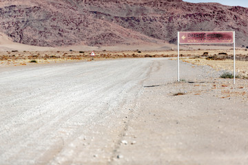 Fotobehang Route 66 Beautiful landscape of Namibia, Africa