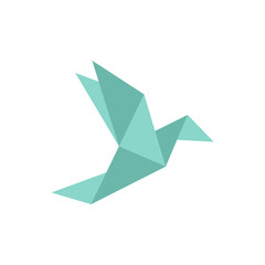 Origami bird. Origami birds vector pack. Origami birds vector set.