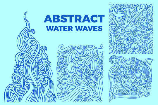 Abstract water waves background