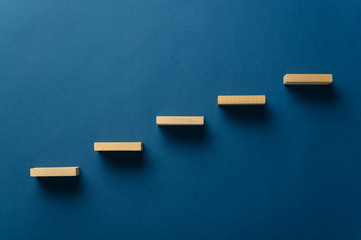 Wooden pegs forming a stairway