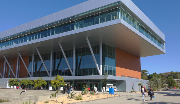 San Marcos, CA / USA - October 15, 2019: The new modern library building at Palomar College.