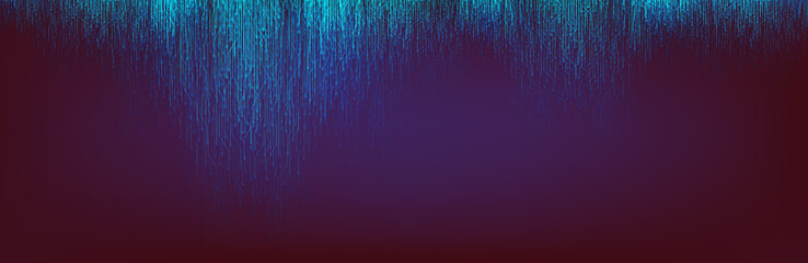 Abstract Blue Light Circuit Microchip Technology on Dark Purple Future Background,Hi-tech Digital Sound wave and Studio Concept design,Vector illustration.