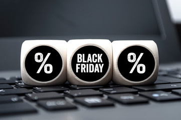 Wall Mural - Black friday and black week hang tags and cubes
