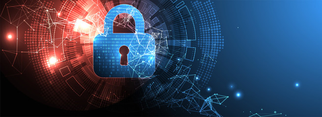 Protection background. Technology security, encode and decrypt. - fototapety na wymiar