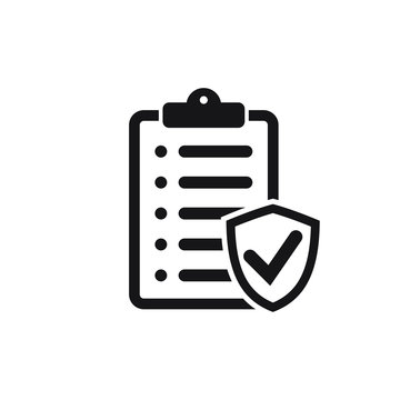 Insurance policy icon, vector icon isolated on white background