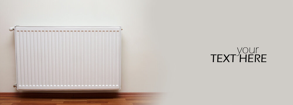 Home gas heater with copy space