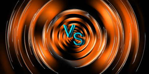 Versus screen design background for fight competition. Battle vs match, game concept competitive. .
