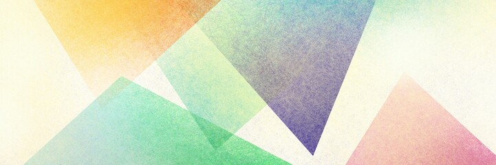 Wall Mural - Abstract modern background in yellow green pink and purple colors and contemporary triangle square and block shapes layered in random geometric art pattern with fine texture