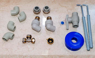 Fittings for boiler mounting, accessories for boiler