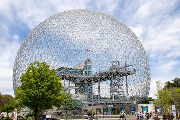The Biosphere is a museum dedicated to the environment.