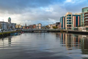 Garden Poster Napels Cork Ireland river Lee panorama scenic amazing view city center Irish landmark
