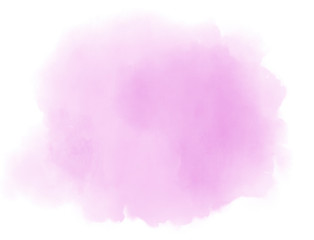 Soft light pink pastel ethereal watercolor cloud splash on white background.