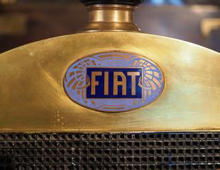 TURIN - NOV 2019: Fiat sign